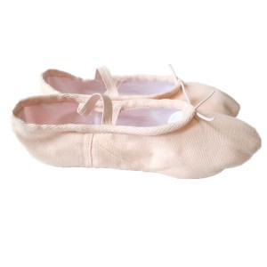 FREE SHIPPING Ready-to-ship Economic Canvas Split-sole Ballet Slippers - Pink