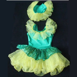 FREE SHIPPING Ready-to-ship Yellow Flower Costume for Kids