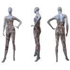 FREE SHIPPING Ready-to-ship Leopard Camisole 3/4 Unitard for Ladies and Girls