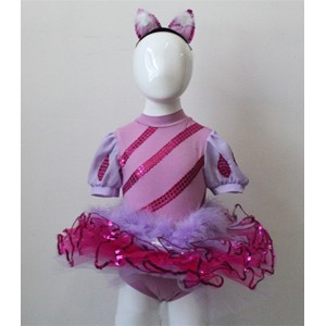 FREE SHIPPING Ready-to-ship Purple Cat Costume for Kids