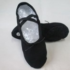 HDW DANCE FREE SHIPPING WholeSale Economic Canvas Split-sole Ballet Slippers - Black