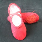 HDW DANCE FREE SHIPPING WholeSale Economic Canvas Split-sole Ballet Slippers - Red