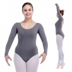 FREE SHIPPING Long Sleeve Leotard with Drawstring Front