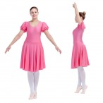 HDW DANCE FREE SHIPPING Nylon/Lycra Puffy Sleeve Leotard Skirts