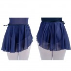 FREE SHIPPING CottonLycra Waistband Mesh Wrap Dance Skirts