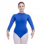 HDW DANCE FREE SHIPPING Cotton/Lycra Two Tone Long Sleeve Leotard