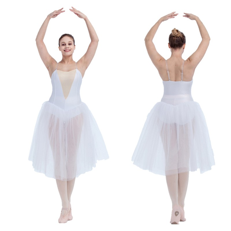 c27994501 HDW DANCE FREE SHIPPING Nylon Lycra Camisole Leotard Tutu Dress with Nude  Insert Front