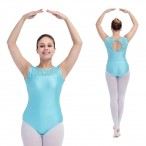 HDW DANCE FREE SHIPPING Shiny Lycra Lace Straight Neck Dance Leotard