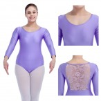 HDW DANCE FREE SHIPPING NylonLycra Lace Back Dance Leotard