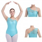 HDW DANCE FREE SHIPPING NylonLycra Lace Off Shoulder Dance Leotard