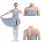 HDW DANCE FREE SHIPPING Sequin Wide Straps Mesh Bodice NylonLycra Dance Dress