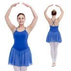 FREE SHIPPING Camisole Leotard with Chiffon Skirts