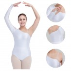 HDW DANCE FREE SHIPPING Shiny Nylon/Lycra One Long Sleeve Turtle-neck Leotard with Finish down to the figure