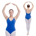 FREE SHIPPING Camisole Leotard with Cross-front