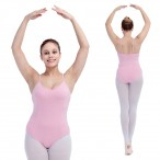 FREE SHIPPING Camisole Leotard with Low Back