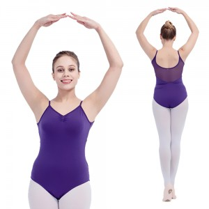 FREE SHIPPING Camisole Low Back Leotards With Mesh All Sizes Available