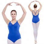 FREE SHIPPING Double Straps Cross Back Camisole Leotard Ladies and Girls