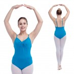 FREE SHIPPING Camisole Leotard with Twist Front