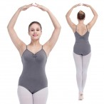 FREE SHIPPING V Front and Back Camisole Leotard