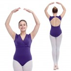 FREE SHIPPING Sleeveless Leotard with Cross-Front
