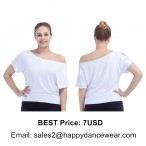 Cut-out Sleeves Dance Top