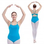 FREE SHIPPING Camisole Leotard with Mesh