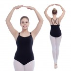FREE SHIPPING Crisscross Back Double Straps Camisole Leotard