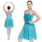 HDW DANCE FREE SHIPPING Sequin Camisole Leotard with Chiffon Skirts