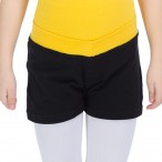 FREE SHIPPING Ladies Girls V Band Contrast Shorts - Cotton/Lycra