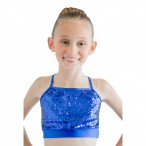 HDW DANCE FREE SHIPPING Sequin Nylon/Lycra Cross Back Camisole Crop Top