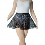 HDW DANCE Shiny Lycra Lace Pull-on Dance Skirts