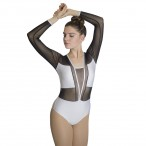 HDW DANCE Nylon/Lycra Mesh Long Sleeve Leotard