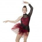 HDW DANCE FREE SHIPPING Black Red Jazz Dance Costume