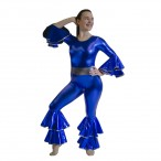 HDW DANCE FREE SHIPPING Metallic Long Sleeve Unitard Costume
