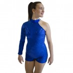 HDW DANCE High Neck Nylonlycra Sequins Biketard